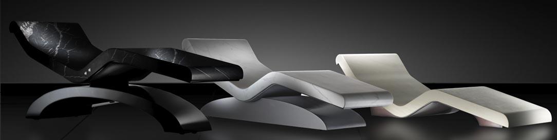 мраморный шезлонг Cleopatra, Fabio Alemanno Design