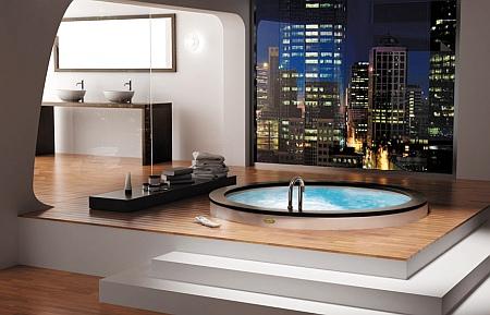 Дизайнерская ванна Jacuzzi Nova Corner Top Aquasystem с гидромассажем и профессиональной дезинфекцией