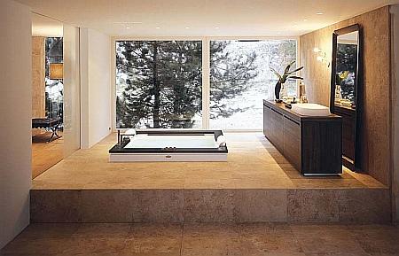 Дизайнерская ванна Jacuzzi Aura Plus