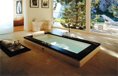 Дизайнерская ванна Jacuzzi Aura Uno